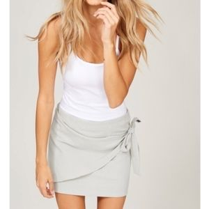 Dresses & Skirts - Just Arrived! Mini Wrap skirt in Sage